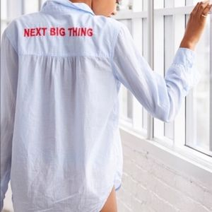 Aerie Next Big Thing Embroidered Shirt